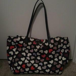 Kate Spade nylon hearts handbag